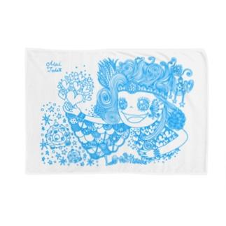 愛と感謝 水色 Blankets