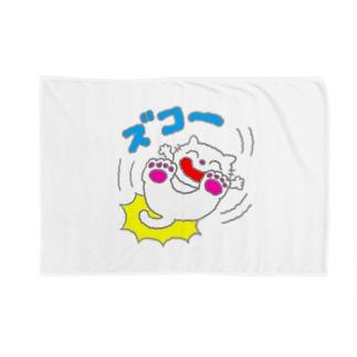 ズコー!ねこ Blankets