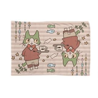 ハチワレ猫のカフェ Blankets