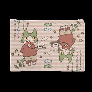 やとりえ-yatorie-のハチワレ猫のカフェ ブランケット