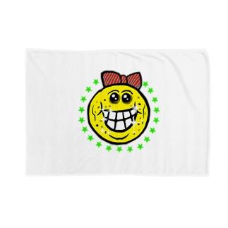 笑い太郎リボン付き Blankets