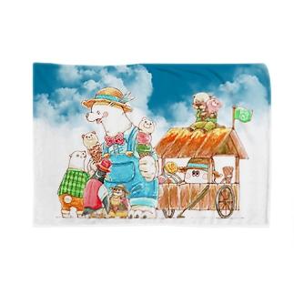 アイス売りのしろくまさん Blankets