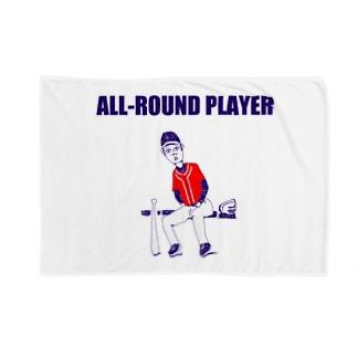 野球デザイン「オールラウンドプレイヤー」 Blankets