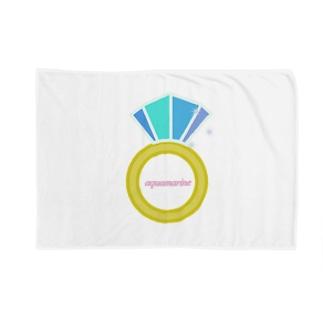 誕生石シリーズ(3月・アクアマリン) Blankets