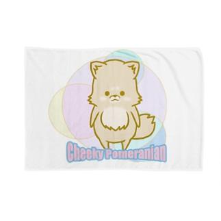 チーキーポメラニアン カラフル Blankets