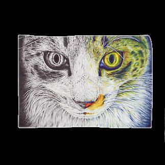 ボールペン画と可愛い動物のボールペン画/カラーボールペン画 ブランケット