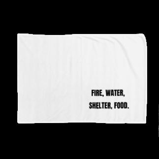 貴重なタンパク源のFire, water, shelter, food.(貴重なタンパク源) Blankets
