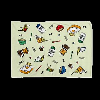 TSUKIMI COFFEEのつきみさんの おてつだい(みどり色) Blankets