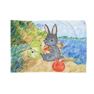 海辺のパトちゃんとケロちゃん Blankets