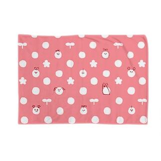 ピッコロ ドット柄 ピンク Blankets