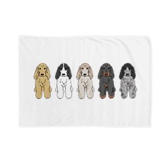 Le Chien TRONC Blankets