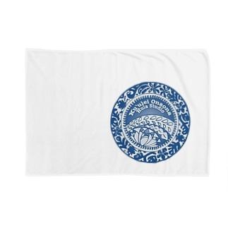クレオナロゴ ブルー Blankets