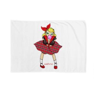 ロカビリーガールⅡ【red】 Blankets