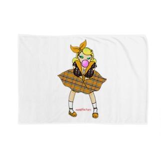 ロカビリーガールⅡ【orange】 Blankets
