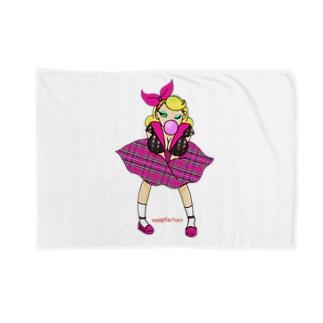 ロカビリーガールⅡ【pink】 Blankets