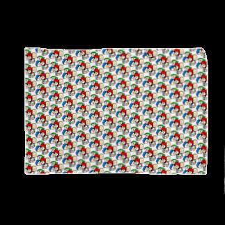 駄菓子菓子の駄ブラ【みっちり数珠繋ぎ】白地 Blankets