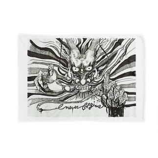 ドラゴン-Never Frogive1 Blankets
