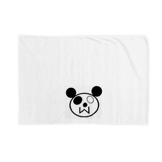 pandaくん Blankets