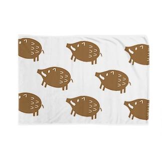 イノシシ模様 Blankets