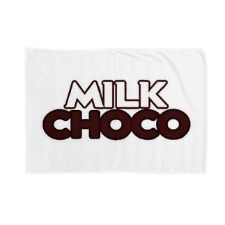 ミルクチョコロゴグッズデザインB Blankets