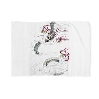 和風ドラゴン Japanese Dragon Blankets