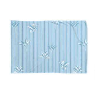ドラセナの葉っぱ🌿ストライプ2 Blankets