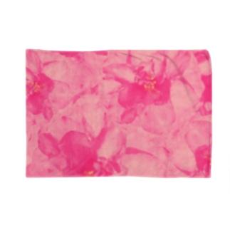 ちるまの店の重なりお花 Blankets