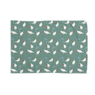 文鳥と青い花 Blankets