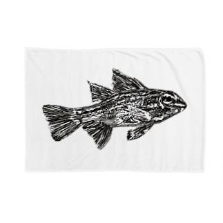 お魚ペン画 Blankets