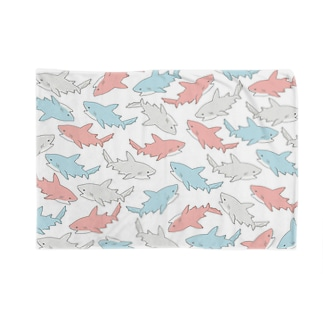 カラフルサメ Blankets