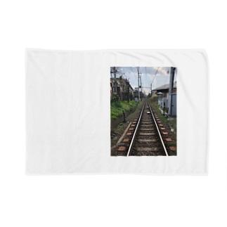 街中の線路 Blankets