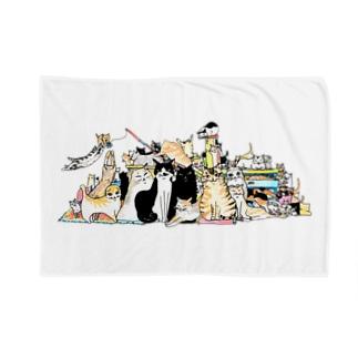 ねこ大集合-猫竹 Blankets