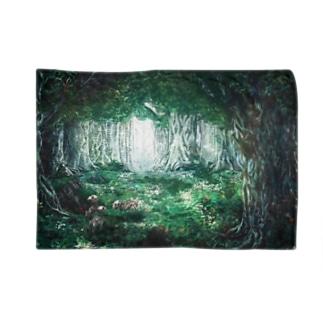 【骨と植物】森とウサギ Blankets