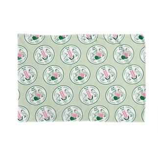 文鳥のお食事 green Blankets