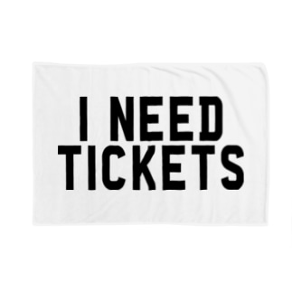I NEED TICKETS - BLACK LOGO Blankets