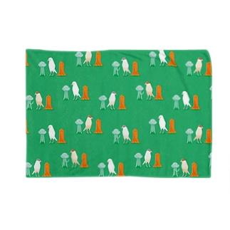 細長い仲間たち green Blankets