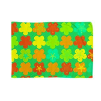 花 いっぱい並べ Blankets