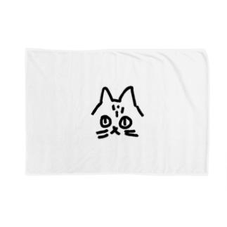 不機嫌のネコ Blankets