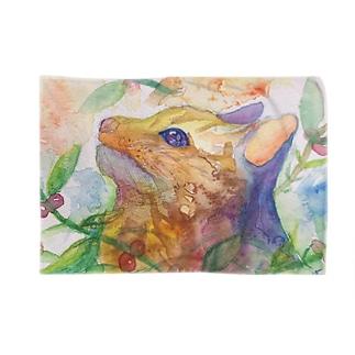 動物横顔シリーズ ヤマネコ Blankets