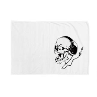skull music Blankets