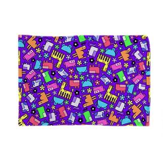 flower purple Blankets