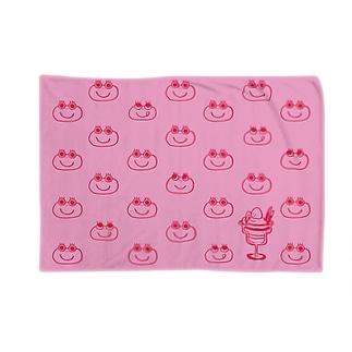 カエルくんとイチゴのパフェ Blankets