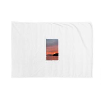 湘南 江ノ島 鎌倉 富士山 日本 Blankets