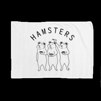 Aliviostaのハムスターズ 動物イラスト ロゴ入り Blankets