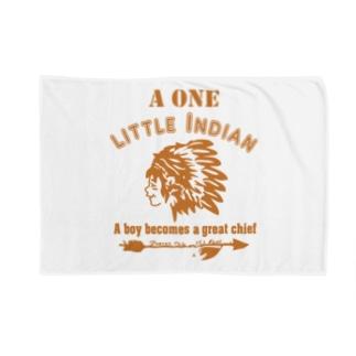 ワンリトルインディアン(イエロー) Blankets