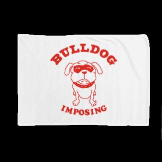 AliviostaのBULLDOG ブルドッグ 犬イラストアメカジ(R) Blankets