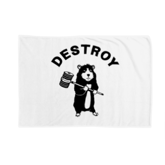 Aliviostaのピコピコハンマーねずみ かわいい破壊者 動物イラストアーチロゴ Blankets