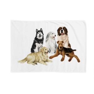大きい犬たち Blankets