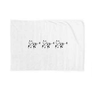 かわいい動物(3ぴき) Blankets