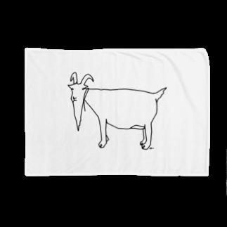Aliviostaのヒージャー 沖縄ヤギ 動物アートイラスト Blankets
